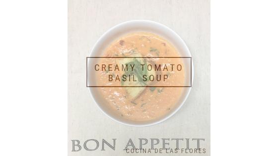 Creamy Tomato BasilSoup