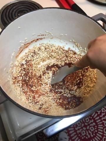 mixture coating rice