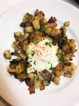 plated potato hash