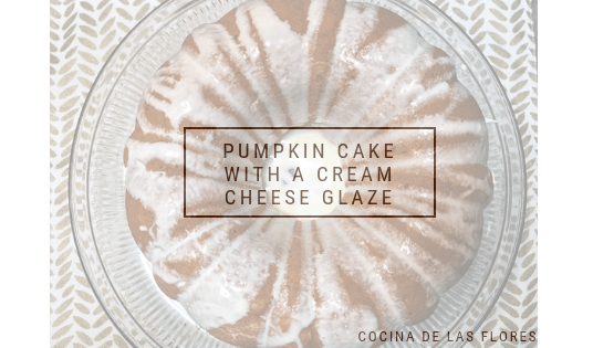 Pumpkin Cake w/ a Cream Cheese Frosting Glaze