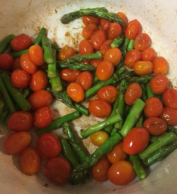 asparagus and tomatoes