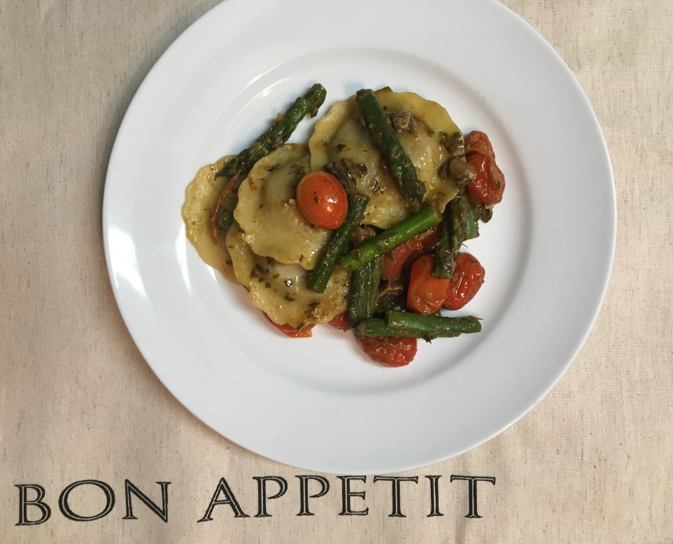 plated raviolis